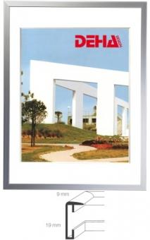 Alu-Bilderrahmen DEHA Profil F - 55 x 70 cm Weiß RAL 9016 | Museumsglas Flabeg UV 60
