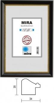 Holz-Bilderrahmen Mira Profil 85 - 50 x 70 cm silber | Kunstglas