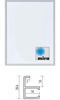 Mira Aluminiumrahmen Quadro - 24 x 30 cm blau RAL 5010 | Normalglas