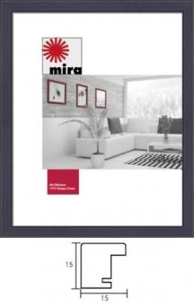 Holz-Bilderrahmen Mira Profil Top Pro S - 18 x 27 cm schwarz | Kunstglas