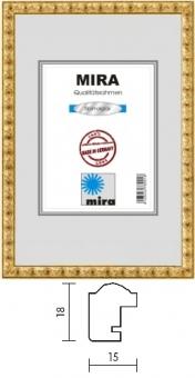 Holz-Bilderrahmen Mira Profil 97 - 20 x 25 cm silber | Kunstglas