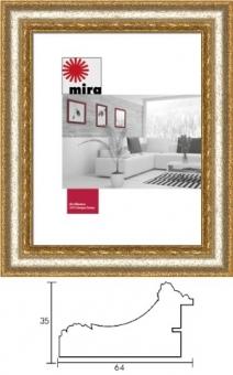 Holz-Bilderrahmen Mira Profil 31 - 30 x 30 cm - quadratisch silber | Antireflexglas