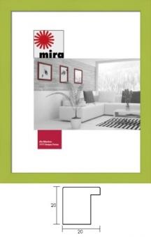 Holz-Bilderrahmen Mira Profil Top Cube - 40 x 60 cm gelb | Kunstglas