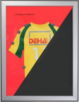 Trikotrahmen DEHA Profil 55 Modell XL - 100 x 100 cm - quadratisch Alu Natur glanz | Acrylglas