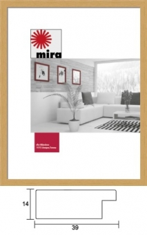Holz-Bilderrahmen Mira Profil 30 - 29.7 x 42.0 cm - DIN A3 weiß | Antireflexglas