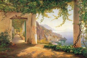Aagaard Carl Frederic - View to the Amalfi coast