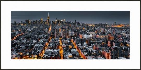 New York Skyline - Gerahmtes Bild mit Alurahmen C2