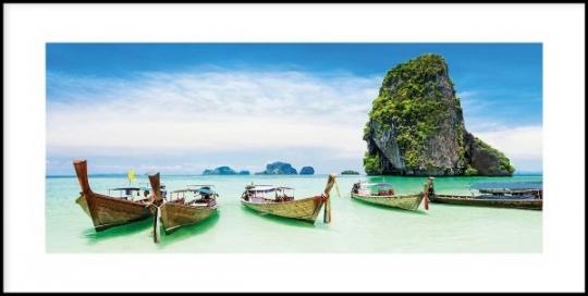 Exotic Island - Gerahmtes Bild mit Alurahmen C2