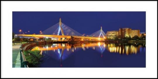 Bridge at Night - Gerahmtes Bild mit Alurahmen C2