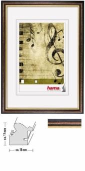 Bilderrahmen Idaho von Hama - 9 x 13 cm Braun
