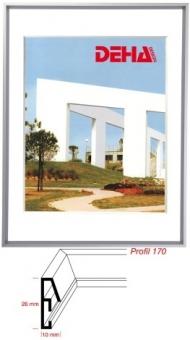 Alu-Bilderrahmen DEHA Profil 170 - 30 x 30 cm - quadratisch Contrastgrau matt | Museumsglas Flabeg UV 90