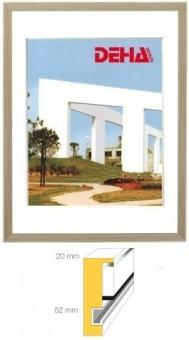 Holz-Objektrahmen DEHA Profil 2052 - 50 x 100 cm Ahorn weiß lasiert | Museumsglas Flabeg UV 90