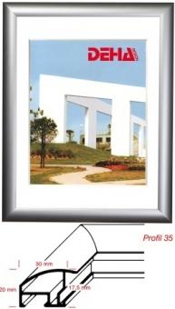 Alu-Bilderrahmen DEHA Profil 35 - 65 x 80 cm Champagner matt | Acrylglas entspiegelt