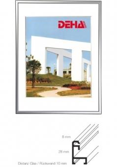 Alu-Bilderrahmen DEHA Profil 50 - 18 x 24 cm Alu Natur glanz | Museumsglas Flabeg UV 90
