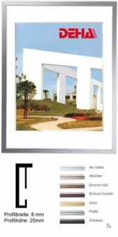 Alu-Bilderrahmen DEHA Profil 2 - 30 x 30 cm - quadratisch Altsilber matt | Normalglas