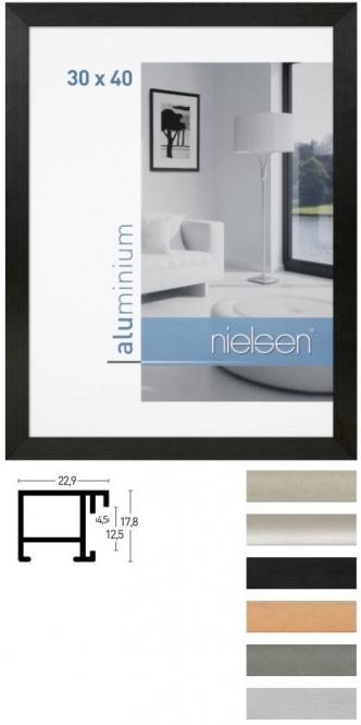 alu bilderrahmen nielsen cambio 60 x 80 cm florentiner silber. Black Bedroom Furniture Sets. Home Design Ideas