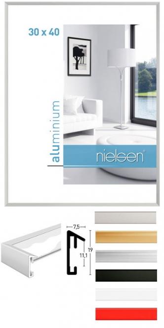 Alu Bilderrahmen Nielsen Pixel 30 X 30 Cm Quadratisch Silber