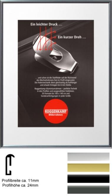 alu bilderrahmen roggenkamp profil r 40 x 60 cm silber gl nzend normalglas 3 mm. Black Bedroom Furniture Sets. Home Design Ideas