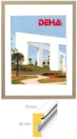holz bilderrahmen deha profil 1532 60 x 60 cm quadratisch ahorn natur lasiert museumsglas. Black Bedroom Furniture Sets. Home Design Ideas