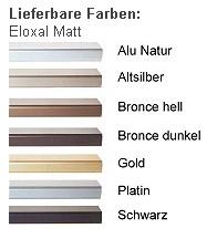 DEHA-Wechselrahmen Farbübersicht Profil 2