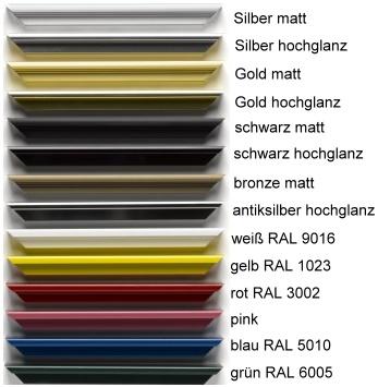 Aluminium-Bilderrahmen Quadro