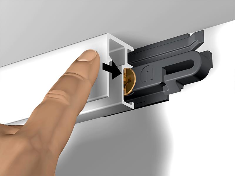 bilderschiene newly r10 einzeln wei schienenl nge 2 meter bilderrahmen online kaufen. Black Bedroom Furniture Sets. Home Design Ideas